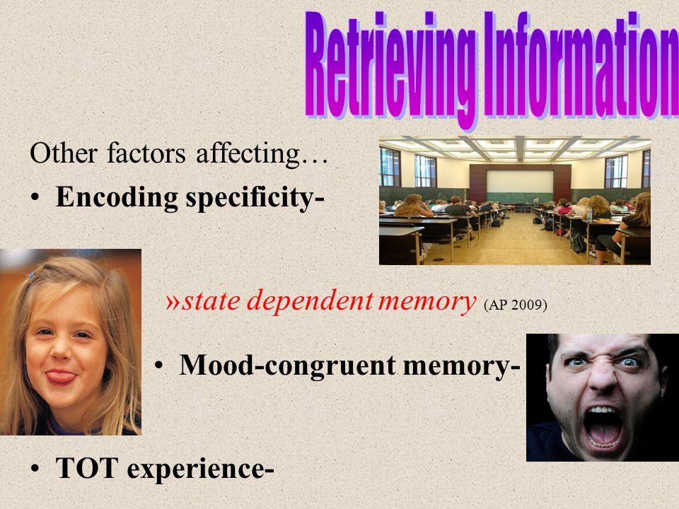 Mood-congruent memory-