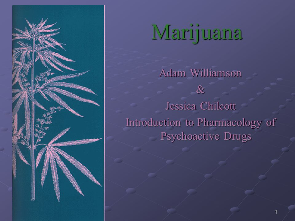 Introduction to Pharmacology of Psychoactive Drugs