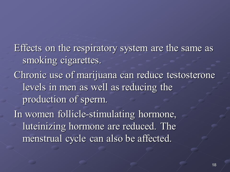 Effects on the respiratory system are the same as smoking cigarettes.
