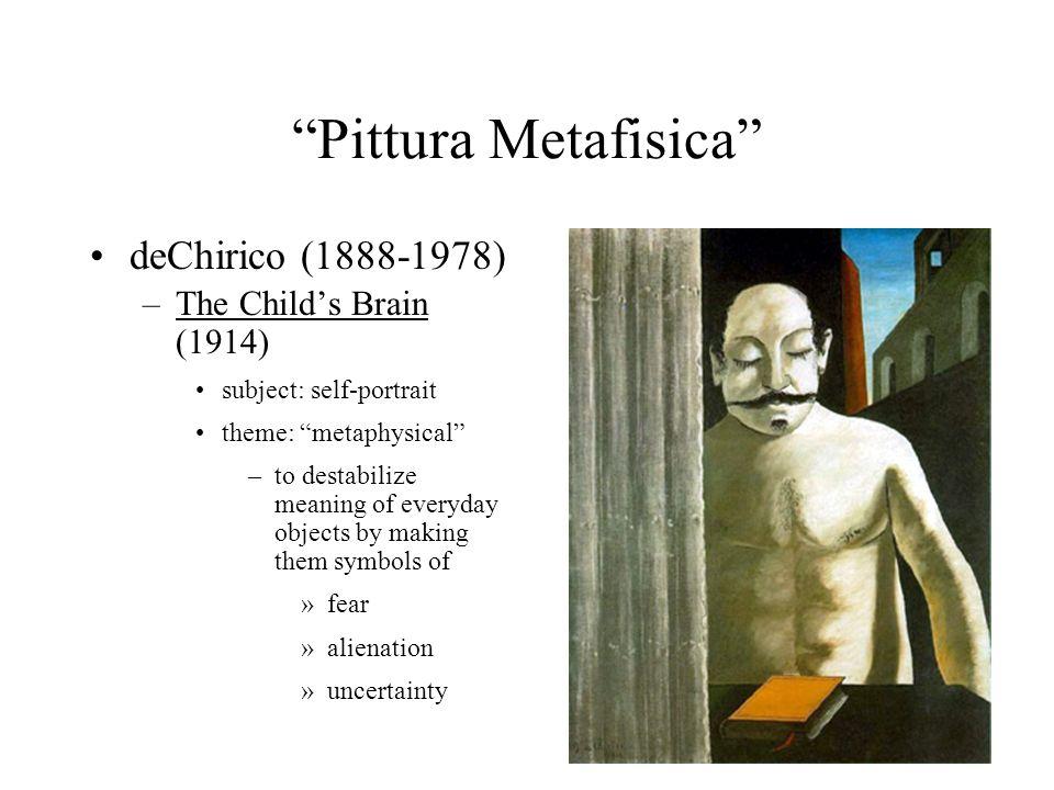 Pittura Metafisica deChirico (1888-1978) The Child's Brain (1914)
