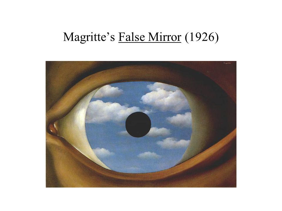 Magritte's False Mirror (1926)