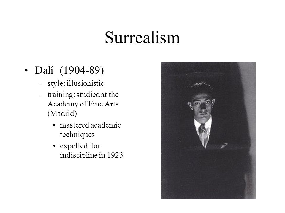 Surrealism Dalí (1904-89) style: illusionistic
