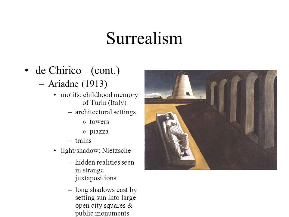 Surrealism de Chirico (cont.) Ariadne (1913)