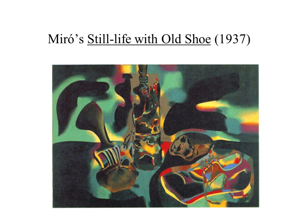 Miró's Still-life with Old Shoe (1937)