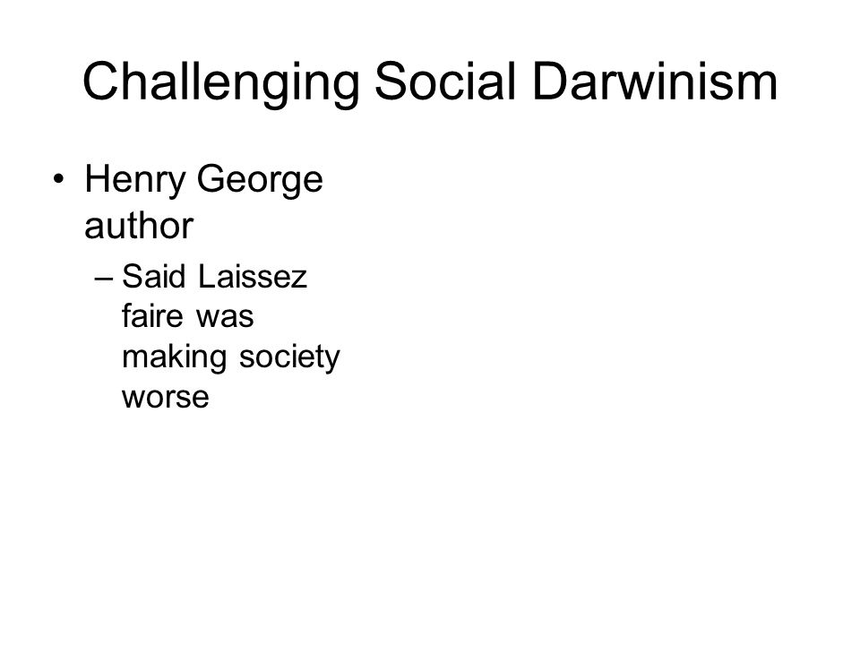 Challenging Social Darwinism