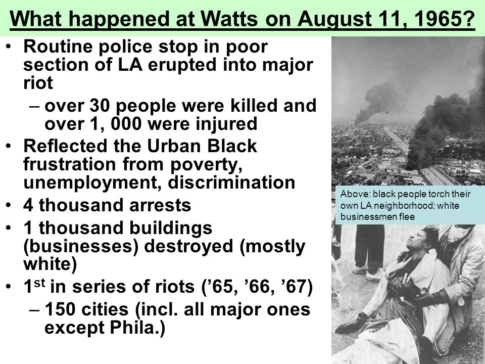 What happened at Watts on August 11, 1965