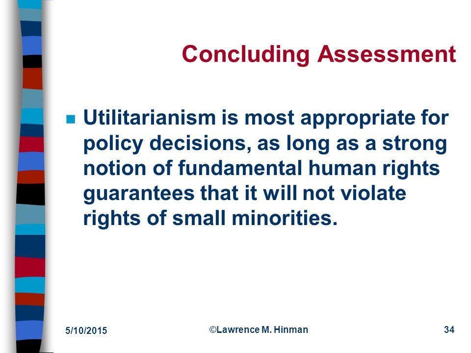 Concluding Assessment