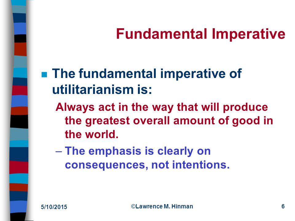 Fundamental Imperative