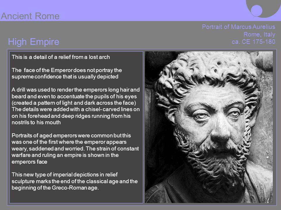 Ancient Rome High Empire Portrait of Marcus Aurelius Rome, Italy