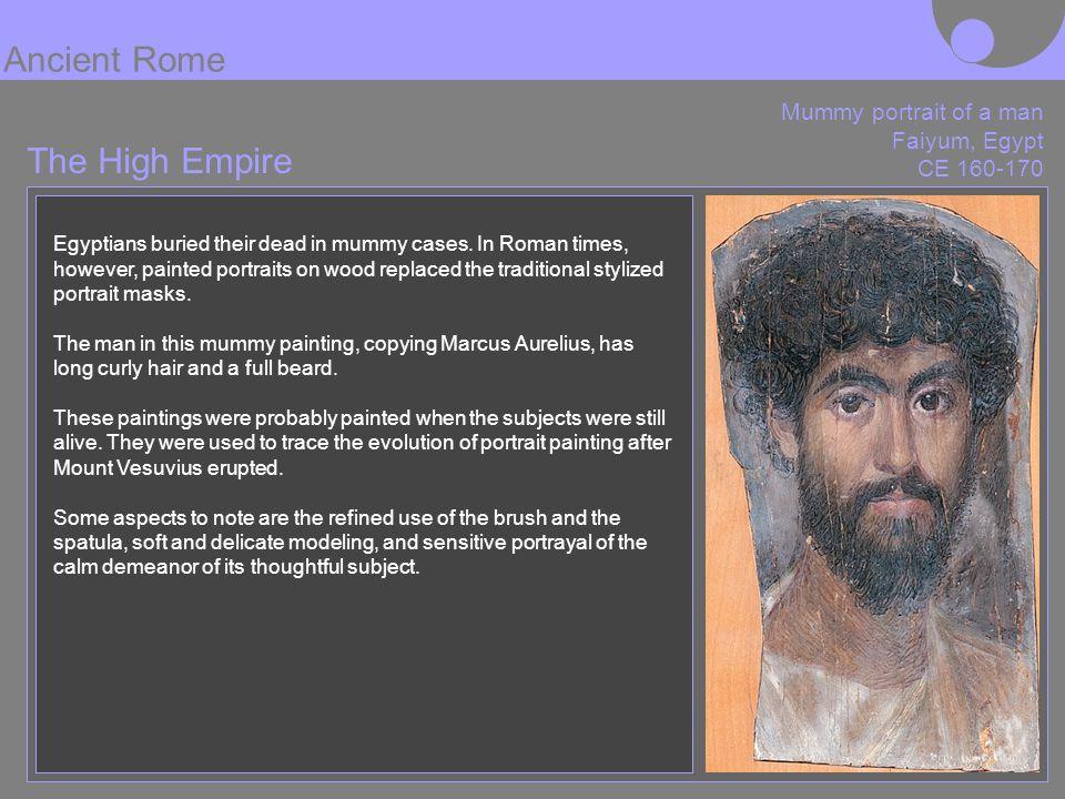 Ancient Rome The High Empire Mummy portrait of a man Faiyum, Egypt