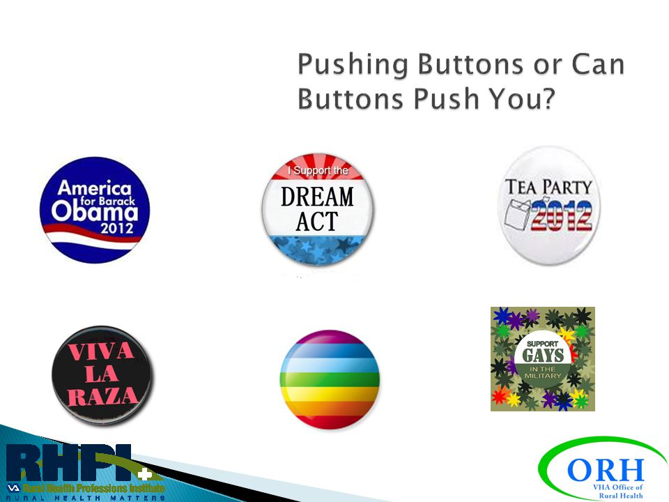 Pushing Buttons or Can Buttons Push You