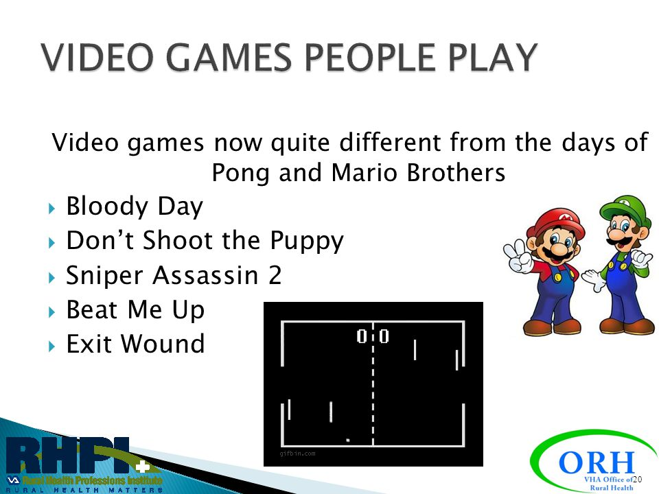 VIDEO GAMES PEOPLE PLAY
