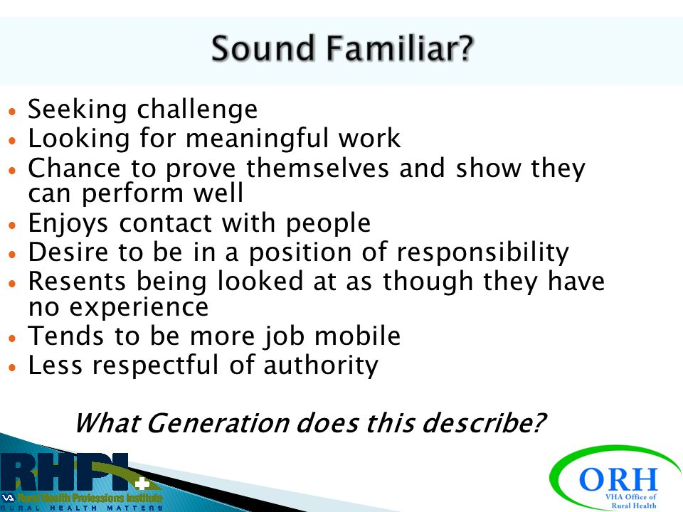 What Generation does this describe