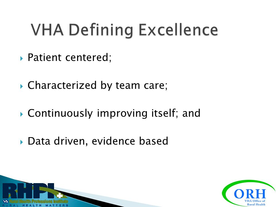 VHA Defining Excellence