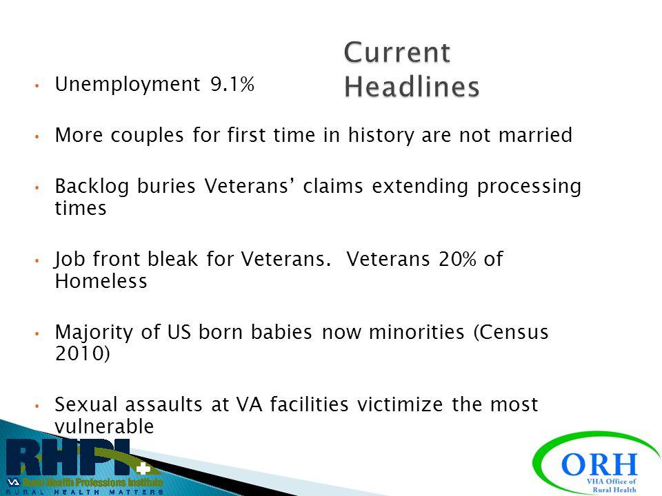 Current Headlines Unemployment 9.1%