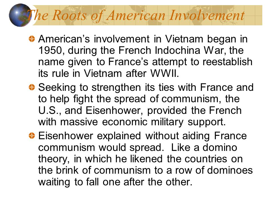 The Roots of American Involvement