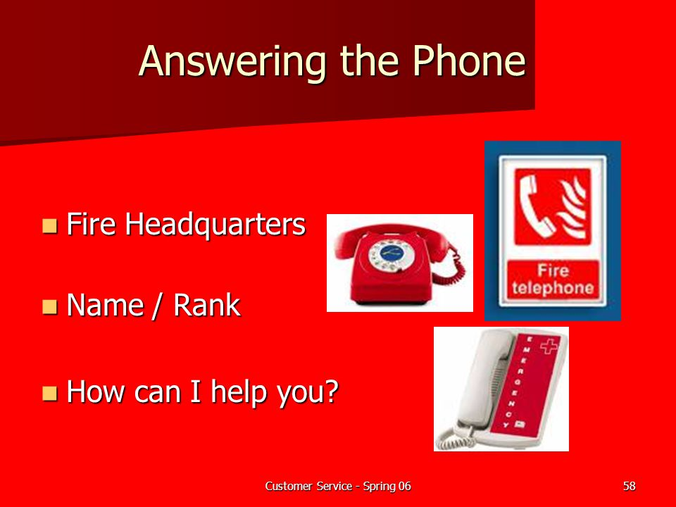 Customer Service for Fire Departments - ppt download