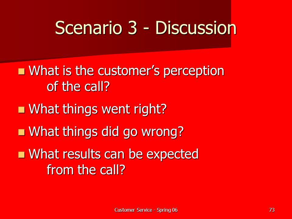 Customer Service - Spring 06