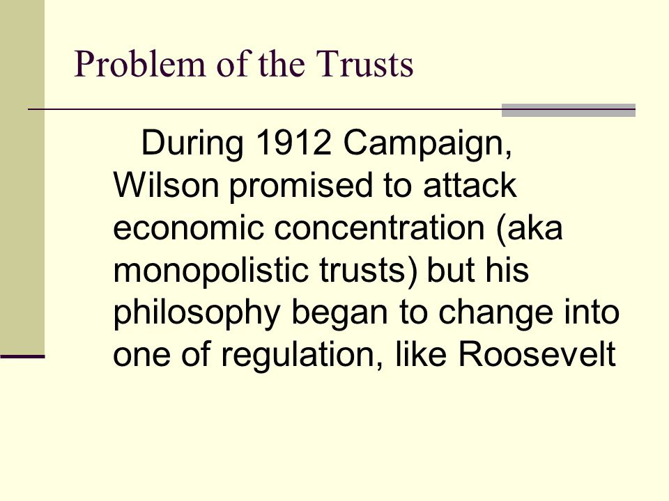 Problem of the Trusts