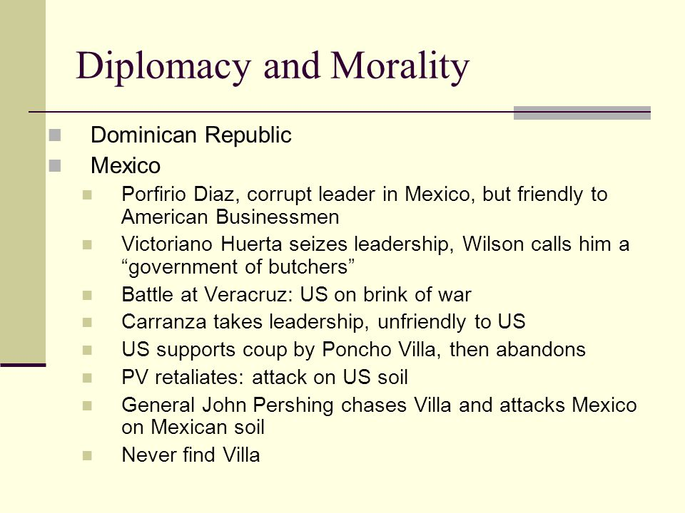 Diplomacy and Morality