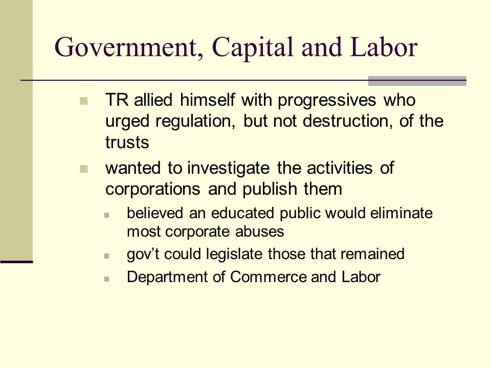 Government, Capital and Labor
