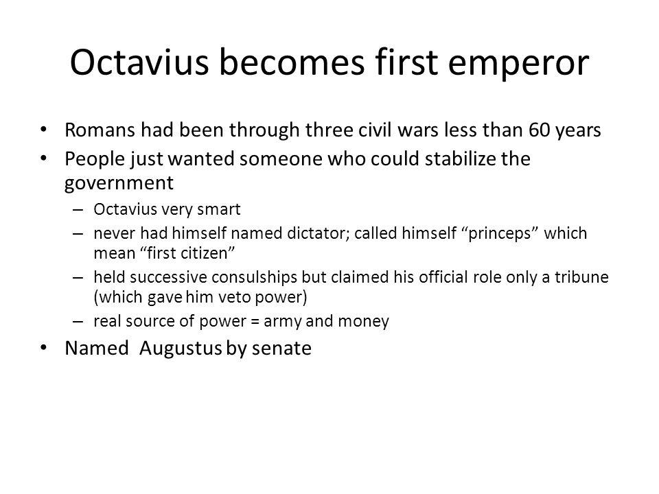 Octavius becomes first emperor