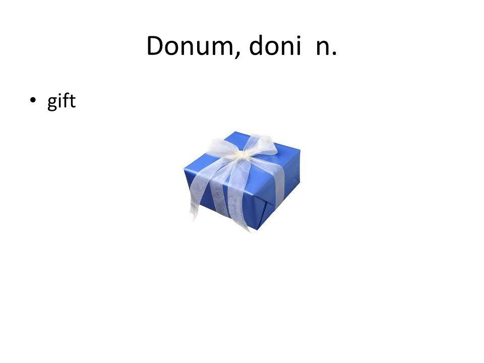 Donum, doni n. gift