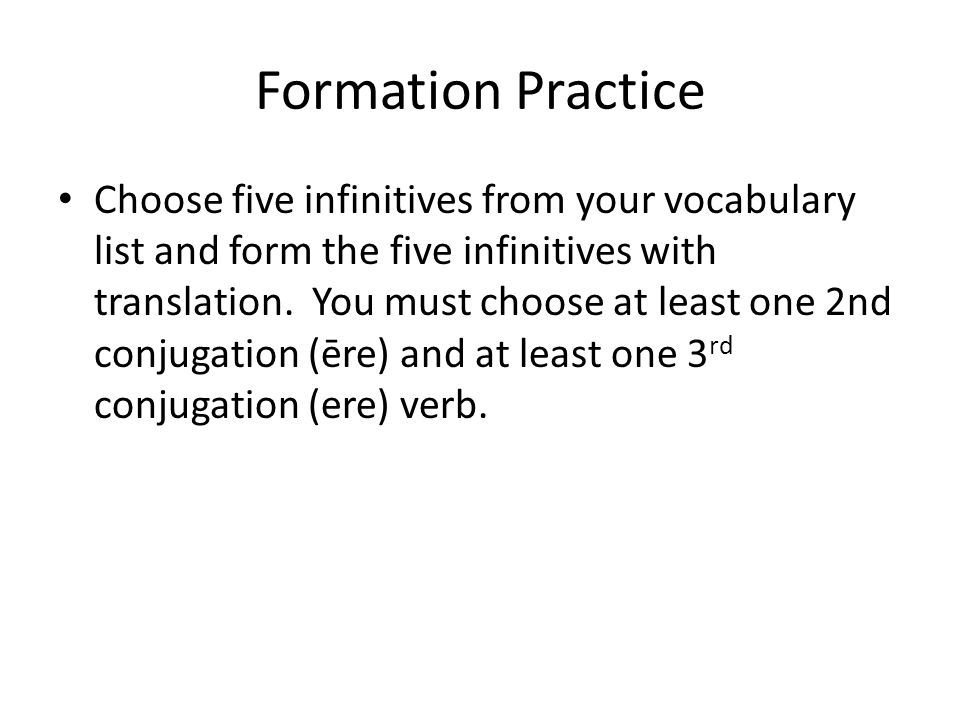 Formation Practice