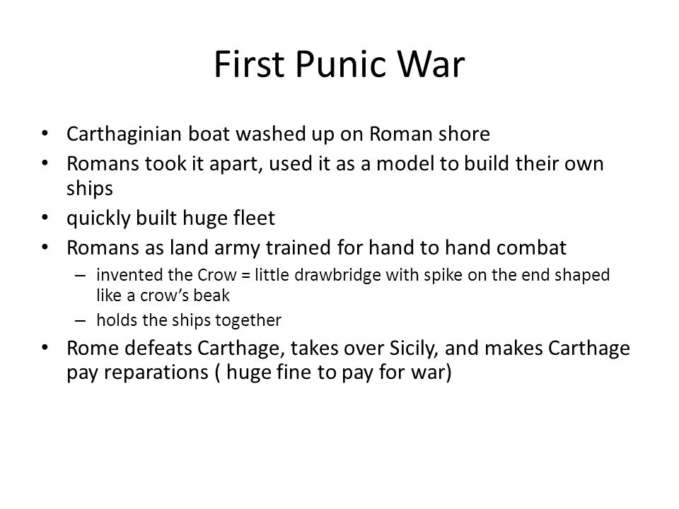 First Punic War Carthaginian boat washed up on Roman shore