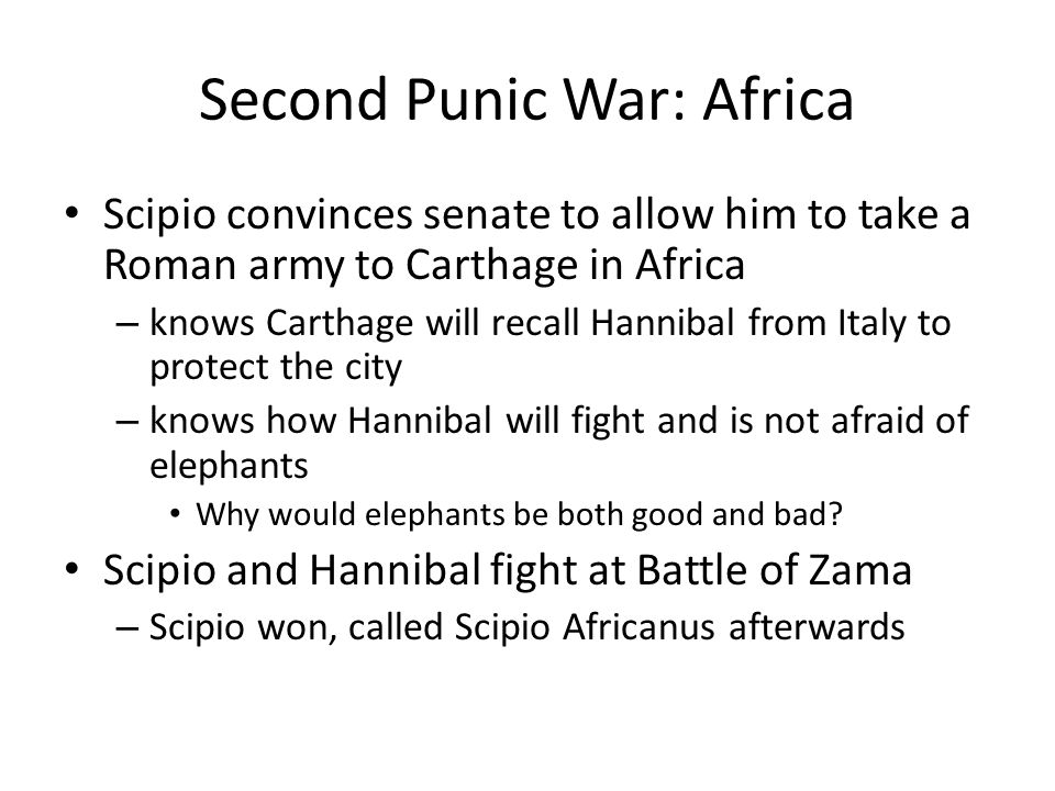 Second Punic War: Africa