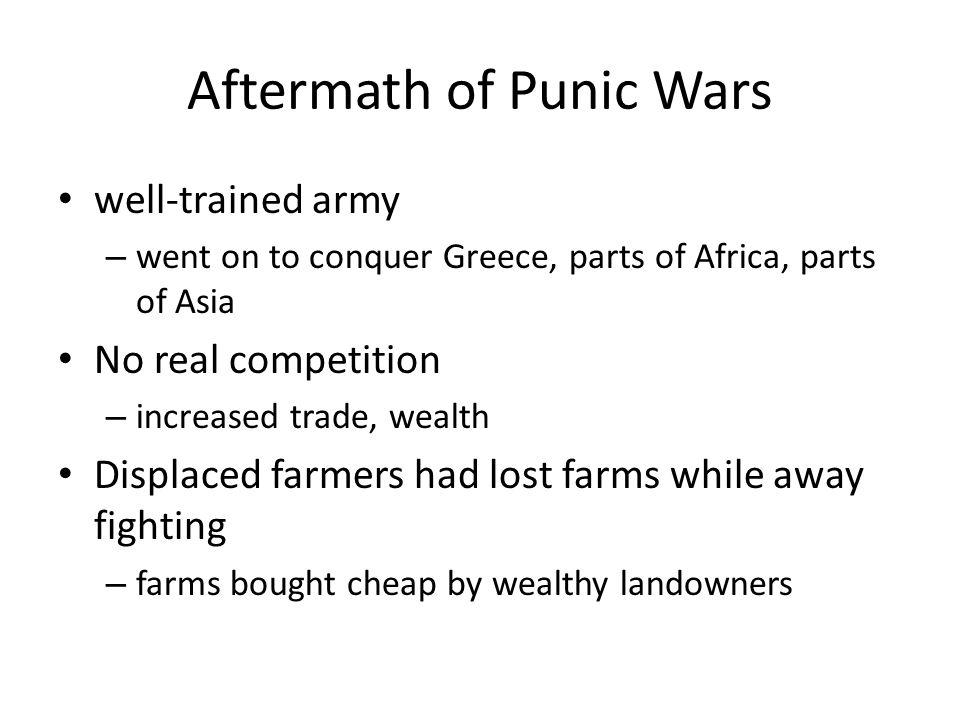 Aftermath of Punic Wars
