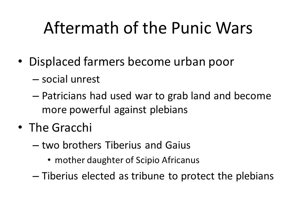 Aftermath of the Punic Wars