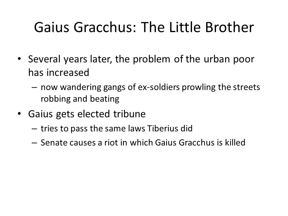 Gaius Gracchus: The Little Brother