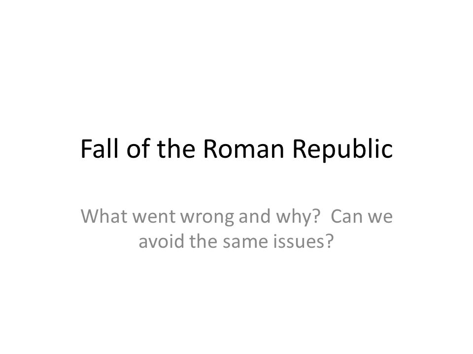 Fall of the Roman Republic