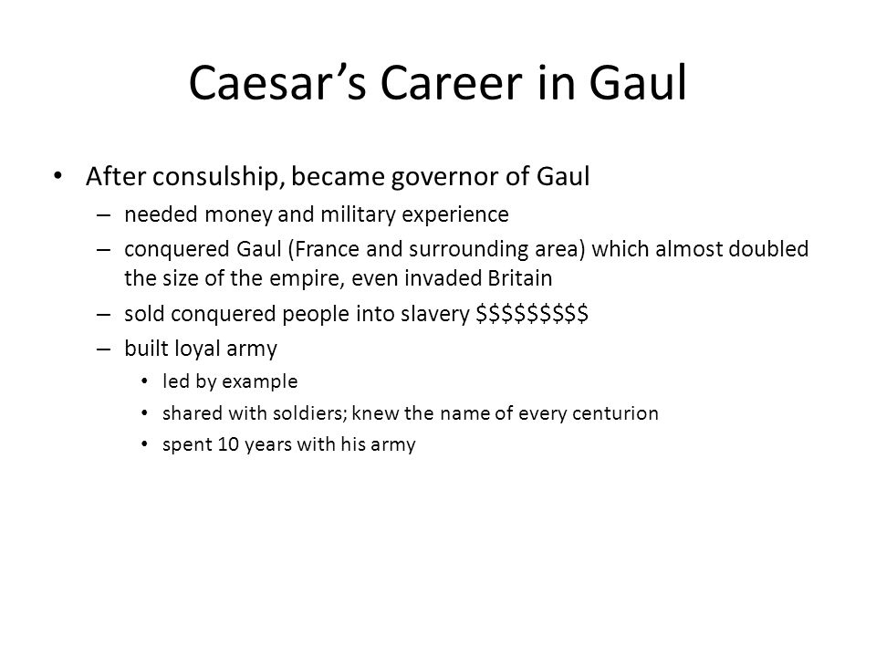 Caesar's Career in Gaul
