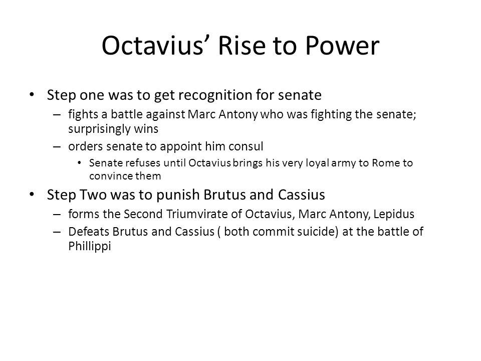 Octavius' Rise to Power