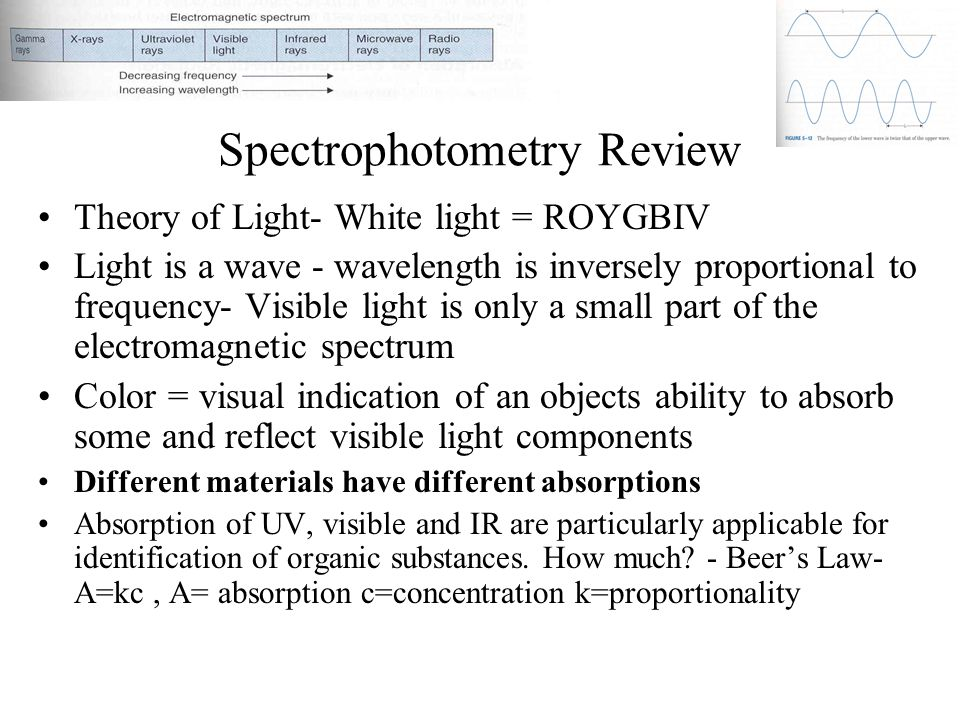 Spectrophotometry Review