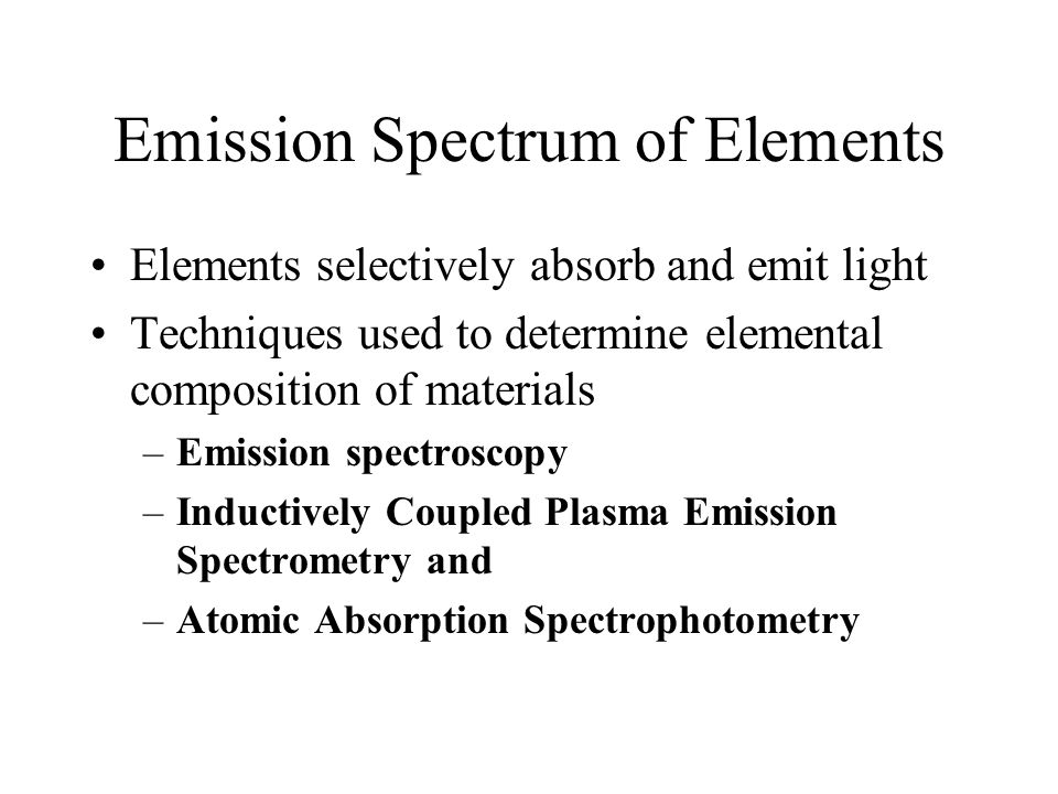 Emission Spectrum of Elements
