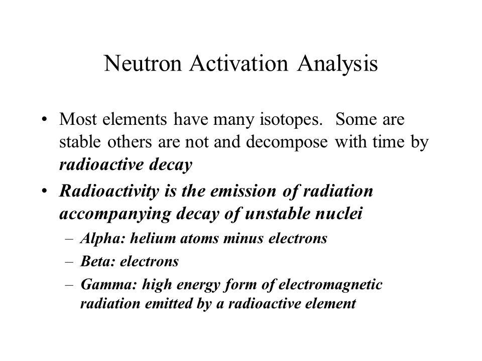 Neutron Activation Analysis