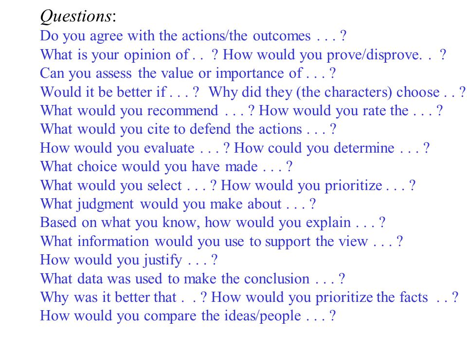 Questions: Do you agree with the actions/the outcomes