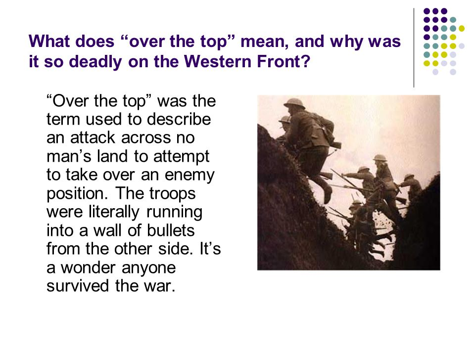 What does over the top mean, and why was it so deadly on the Western Front
