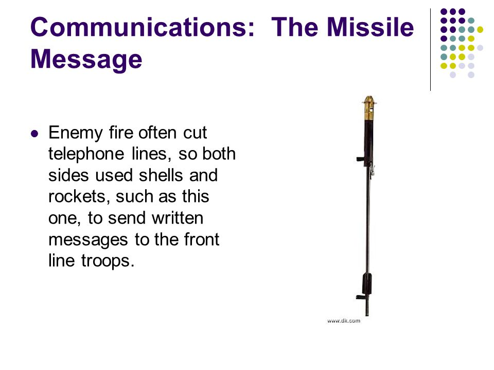 Communications: The Missile Message