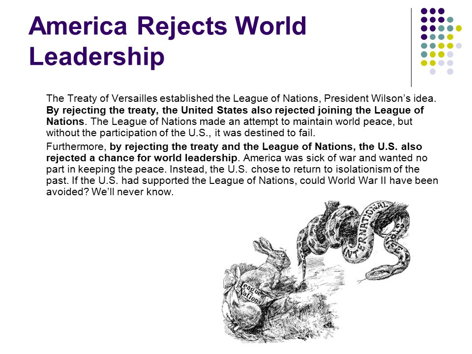 America Rejects World Leadership