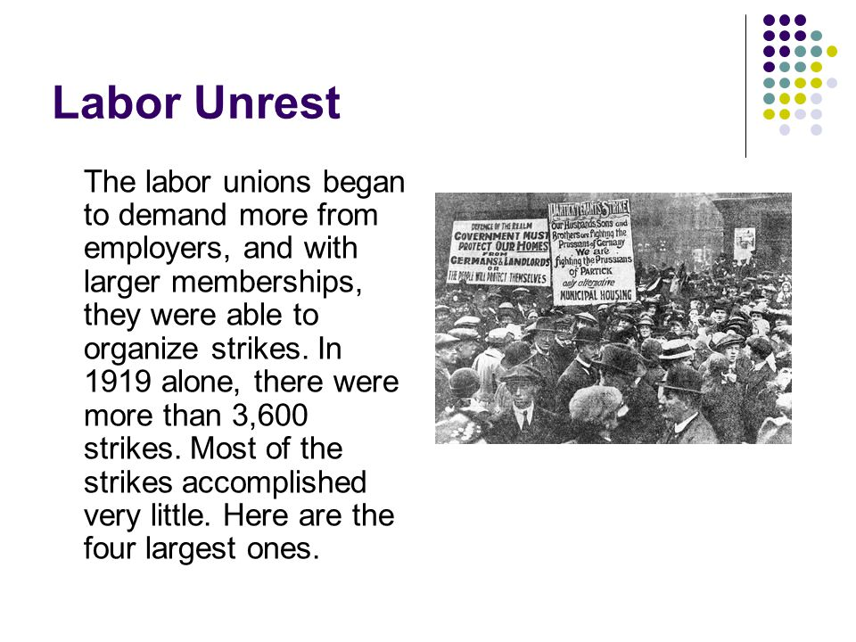 Labor Unrest