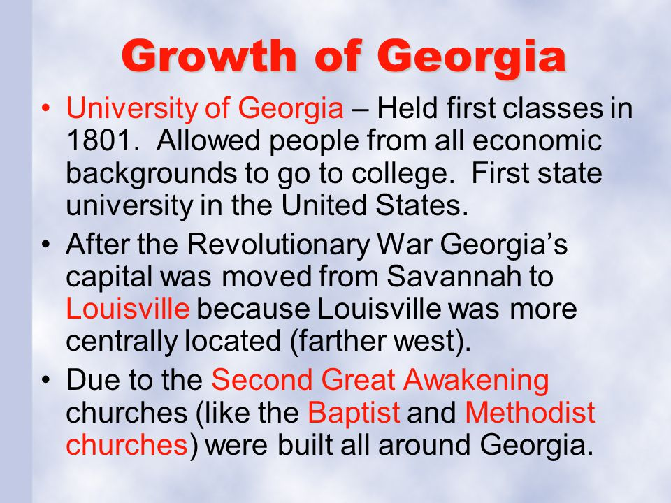 Growth of Georgia