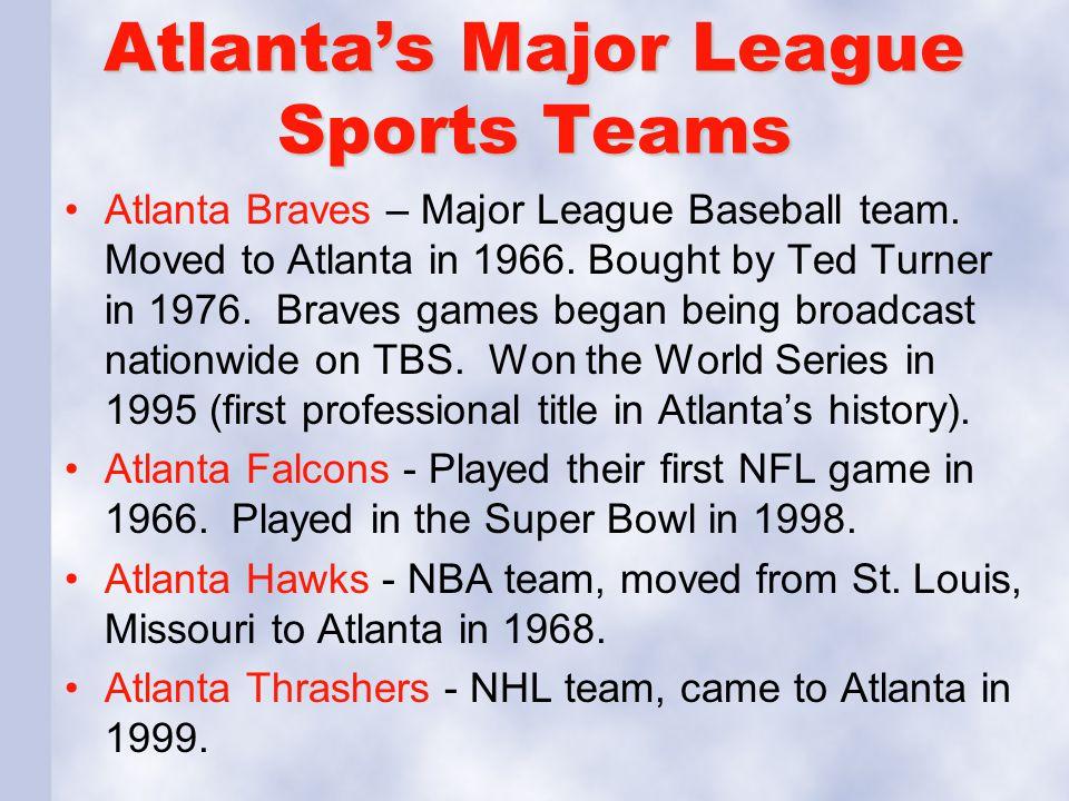 Atlanta's Major League Sports Teams