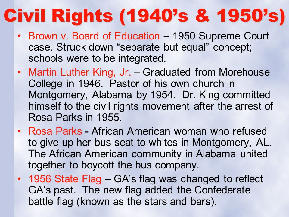 Civil Rights (1940's & 1950's)