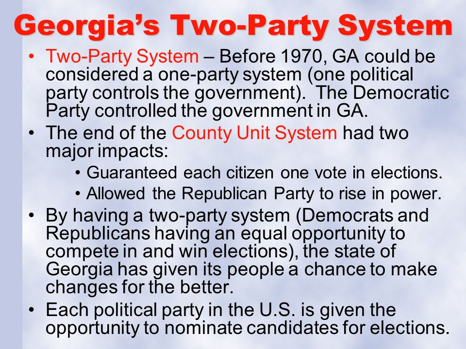 Georgia's Two-Party System