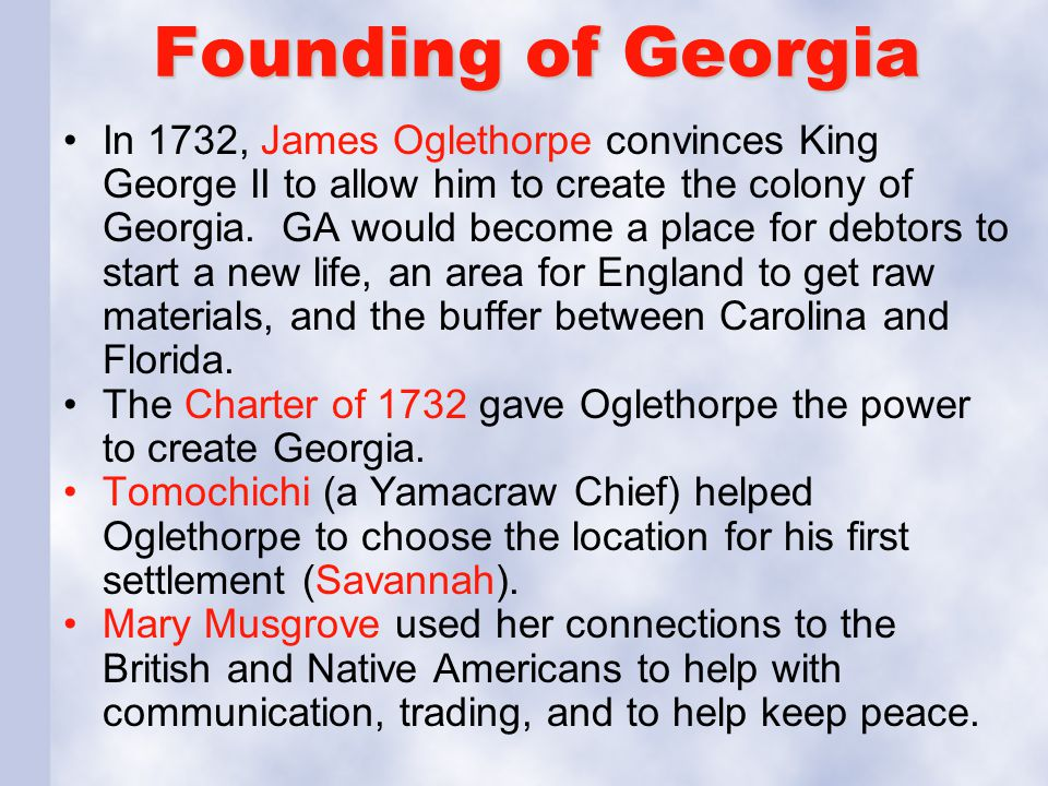 Founding of Georgia