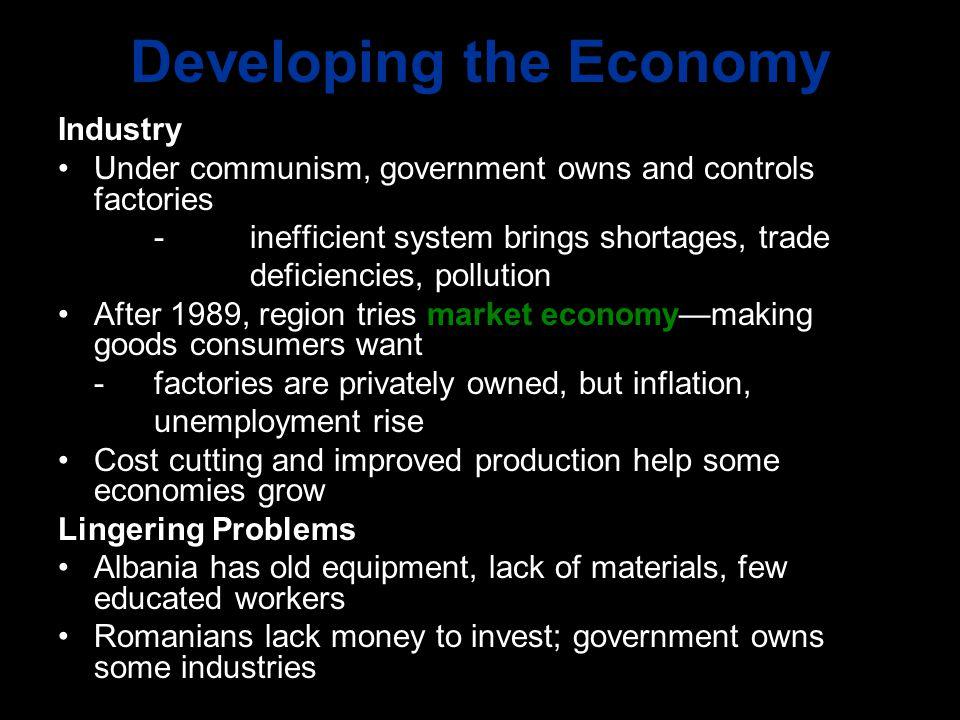 Developing the Economy